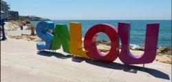 "New giant letters with the slogan ""Salou"" in the Pilons area"