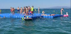 Bathers already have floating platforms on the beaches